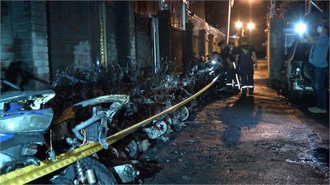 疑街友縱火 台中集合大樓凌晨大火燒20車