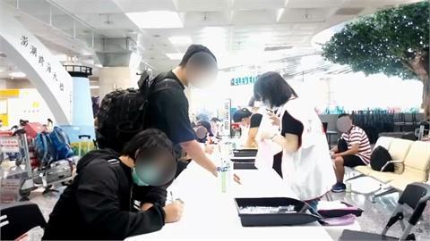 快新聞/澎湖機場入境快篩站今啟用 半數旅客未同意篩檢
