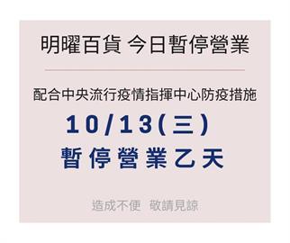 快新聞/有確診者足跡! 明曜百貨今日暫停營業消毒