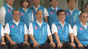 快新聞/韓國瑜率團隊拍畢業照 苦笑說「我笑不出來啊」
