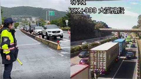 連假首日國道多路段時速40公里「紅通通」 高公局:避開6大地雷段