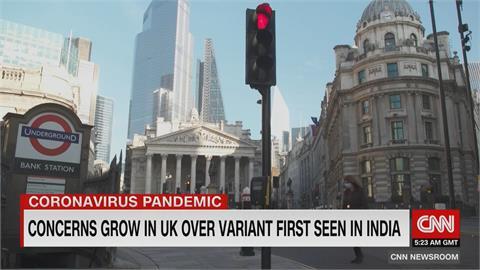 印度變種病毒在英國肆虐 首相強森稱令人憂心