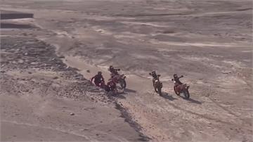 達卡拉力賽第九站 冠軍車手自摔倒路邊送醫