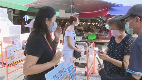 疫情漸趨緩...濱江市場人潮有增加 分流+民眾「速戰速決」苦了攤商