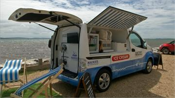 電動冰淇淋車超環保!太陽能發電零碳排