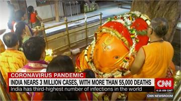 印度確診人數破3百萬 專家:恐怕很快超越美國