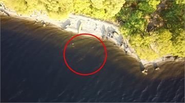 尼斯湖水怪現身?英國男子在尼斯湖露營 透過空拍機拍到「清晰畫面」
