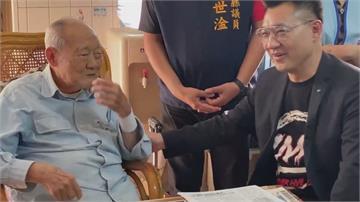 探視105歲資深黨員金英江啟臣盼國民黨擁有再起的一天