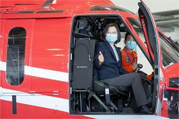 快新聞/空勤黑鷹直升機復編 蔡英文:期許保護我們的國人和國土