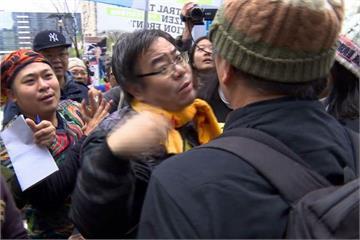 台中反空污遊行還未出發 民眾爆小衝突!