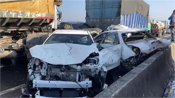 快新聞/西濱追撞車禍釀2死8傷 7車涉過失致死遭查扣