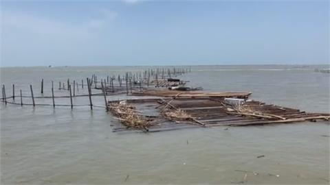 欲哭無淚! 大水沖走龍膽石斑損千萬 蚵棚垮了 8千萬也飛了