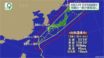 「潭美」挾豪雨29日襲沖繩!一路向北貫穿全日本