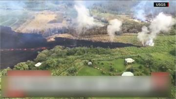 全球/ 夏威夷基拉韋厄火山狂噴 滾滾岩漿四處蔓延