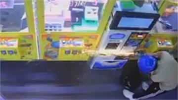 無法無天!狂賊搬砂輪機破壞兌幣機 鈔票箱直接偷走