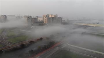 台中市區晨霧變雲海!「輻射霧」成另類都市美景