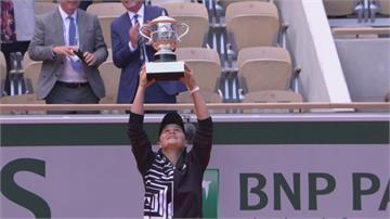 去年法網奪生涯首座大滿貫 球后巴蒂放棄衛冕