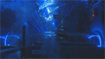上百人水中辦趴踢 世界最深泳池化身舞廳