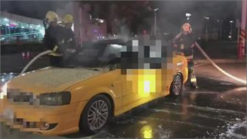 凱旋站外火燒車! 計程車燒成火球 司機身亡