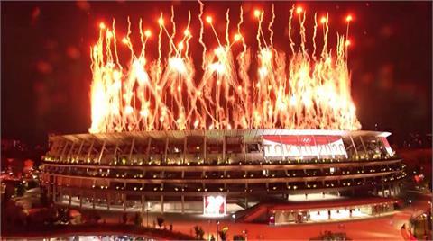 東京奧運盛大開幕 中華隊進場NHK轉播喊台灣