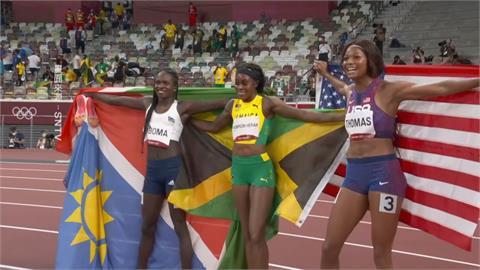 牙買加女閃電創紀錄 湯普森田徑100與200米衛冕雙金
