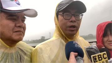 颱風來襲韓國瑜坐鎮高雄 陳其邁:天經地義的事