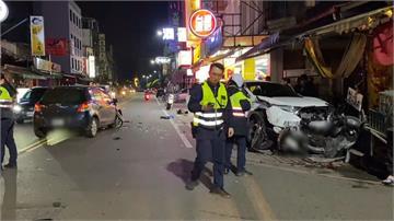 太累了? 駕駛恍惚一車撞六車 逆向衝撞三人傷 幸無生命危險