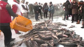 黑龍江冰上捕魚節 吸引上千遊客造訪