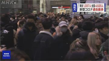 日本確診新高 澀谷跨年人潮減