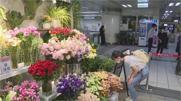 捷運站也能買花!城市花廊搬進捷運站