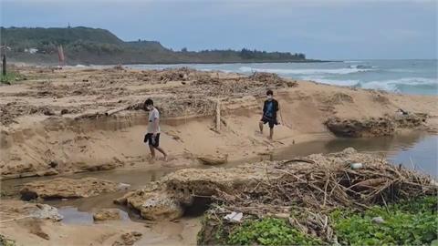 白沙灣不見了  墾管處:海沙流動自然現象