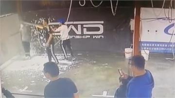 高壓水槍互噴 洗車場當遊樂場險傷人