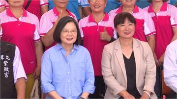 蔡英文旋風訪南投4廟宇 林明溱憂心:民進黨2年後收回南投