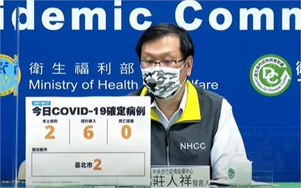 快新聞/本土增2例在台北! 境外移入6例、無新增死亡