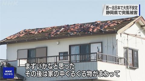 日本現壞天氣!靜岡突颳強風房屋被吹爛40棟建築物受損釀3傷 500多戶停電