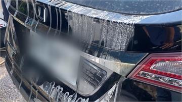 愛車停公有停車場遭潑漆 警方:個案