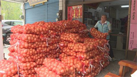 恆春洋蔥收成季 里長挺農民!買下一千包送里民