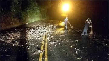 快新聞/蘇花公路、蘇南公路接連土石坍方 警冒雨排除