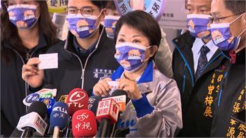 台中市府堅持零檢出 宣導標示來源 盧秀燕帶隊查  拿出快篩劑抽驗