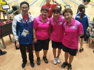 亞運/保齡球女子三人賽 台灣隊4255分奪銀
