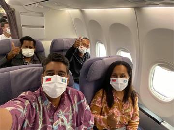 LIVE/帛琉總統惠恕仁抵台! 包機降落桃園機場 吳釗燮親自接機