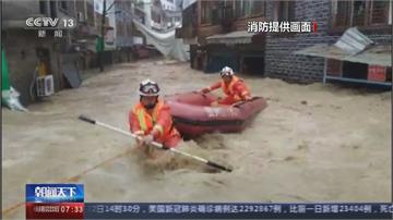 長江沿岸豪雨不斷 重慶綦江暴漲 80年來最大洪水