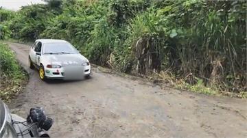 華盟拉力賽「玉里安通站」 連日下雨賽車頻失控