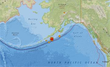 快新聞/美國阿拉斯加州外海7.5強震 沿岸城市發布海嘯警報