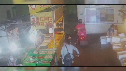 趁其不備! 外送員闖重慶市場 攤商憂變成破口