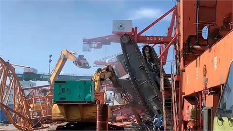 台中港起重機翻覆意外1死1傷 疑沒妥善評估環境安全