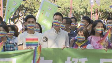聲援同志大遊行「被誤認為江啟臣」 林飛帆:他不敢來