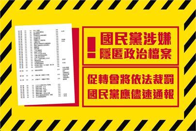 快新聞/國民黨涉隱匿數千筆政治檔案 促轉會:儘速通報否則將依法開罰