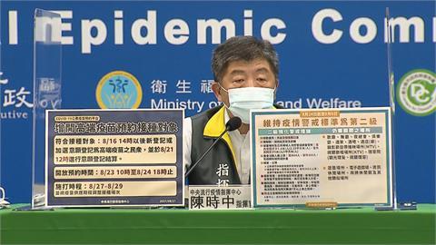 快新聞/高端疫苗增開預約接種!8/23開放預約、8/27開打「20萬人符合資格」