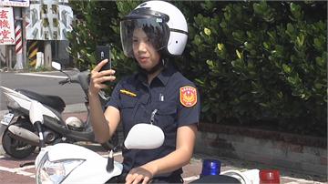小心警察就在身邊!停車越線 女警在後照相